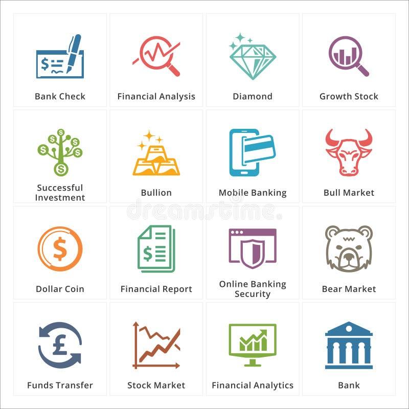 Ogłoszenia towarzyskiego & biznesu Finansowe ikony - set 1 ilustracji
