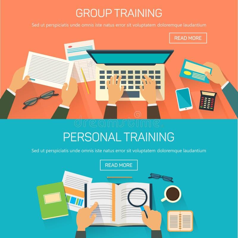Ogłoszenia towarzyskiego lub grupy szkolenie dla pracowników, konferencja ilustracja wektor