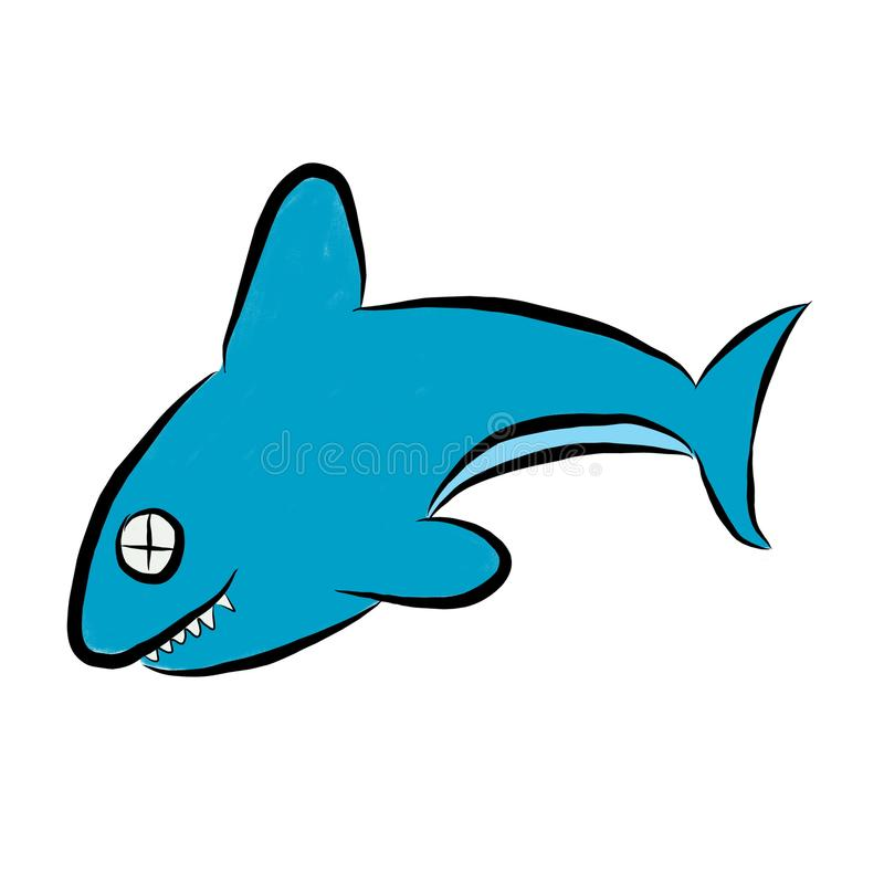 Ogłuszony błękitny rekin fotografia stock