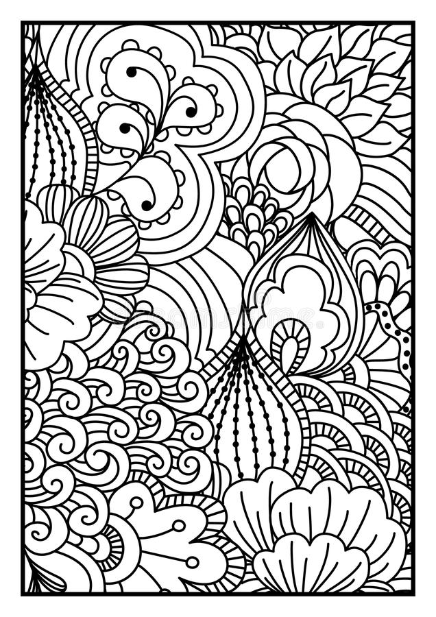 Ogange Blume Fractal stock abbildung