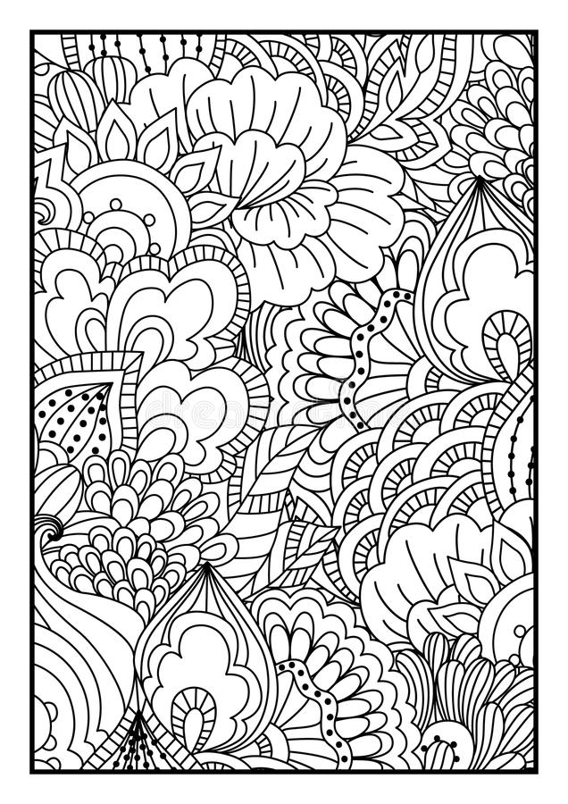 Ogange Blume Fractal vektor abbildung
