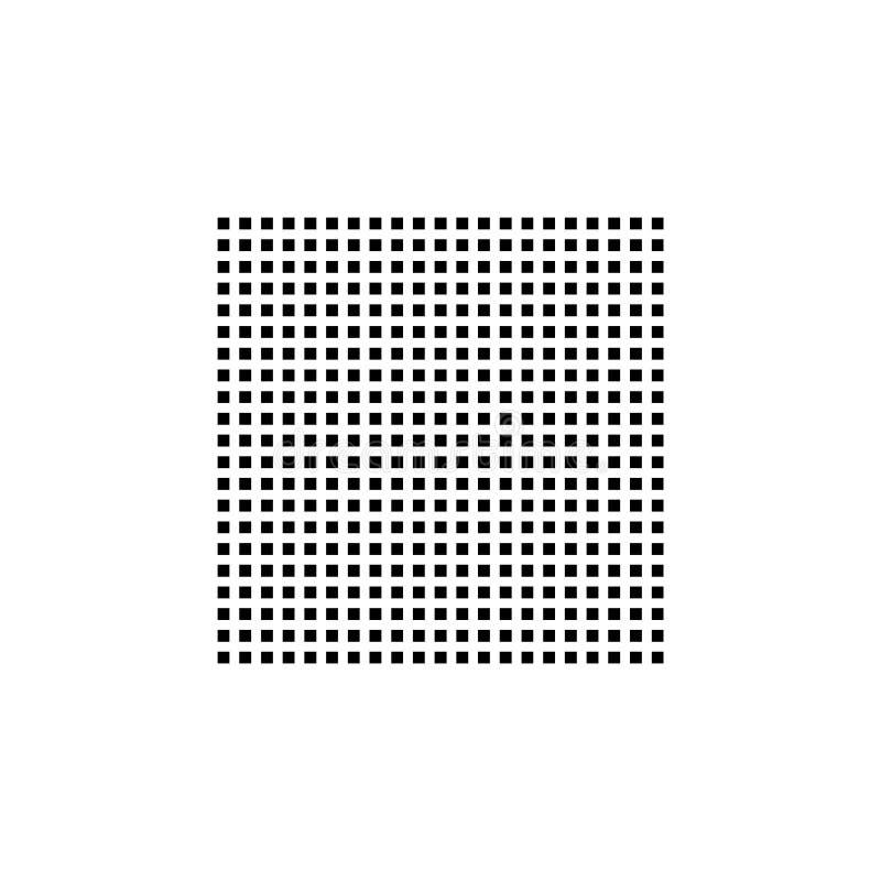 Ogange Blume Fractal Quadratischer Beschaffenheitsvektor vektor abbildung