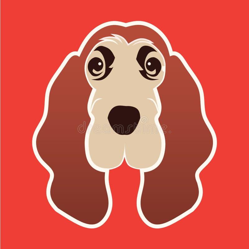 ogara psi logo royalty ilustracja