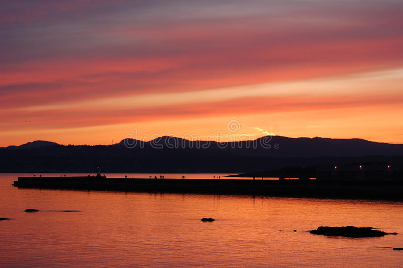 Ogden point in twilight royalty free stock image