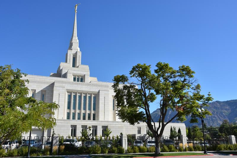 Ogden Utah Temple. In the USA royalty free stock photography