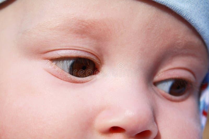 Ogen van een jongen stock afbeelding