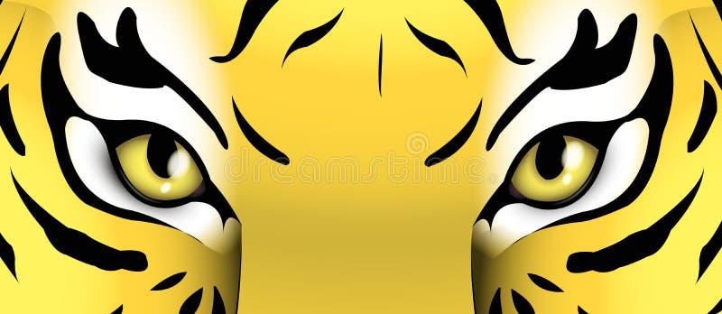 Ogen van een tijger royalty-vrije illustratie