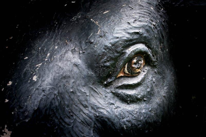 Ogen van olifantsstandbeeld stock foto's