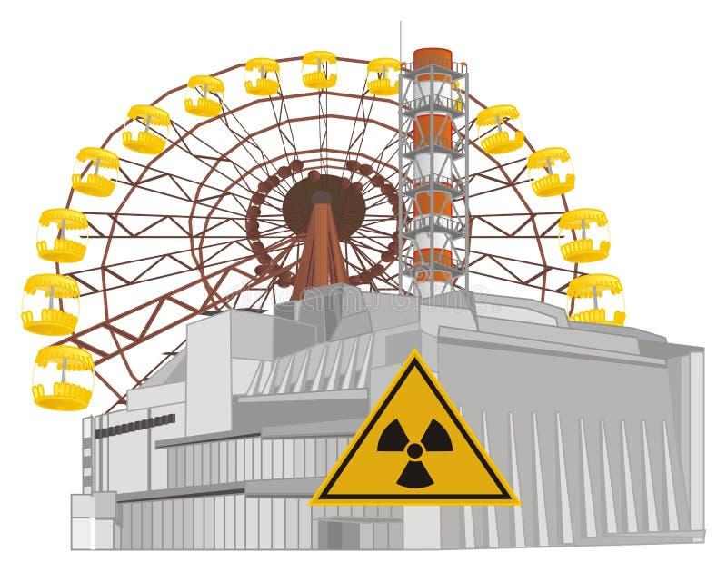 Oggetti colorati di Cernobyl illustrazione vettoriale