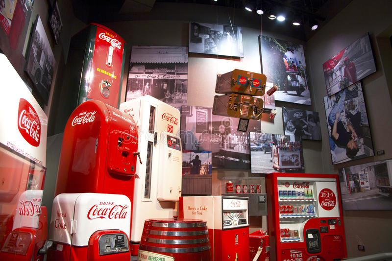 Oggetti da collezione del mondo del coke fotografie stock