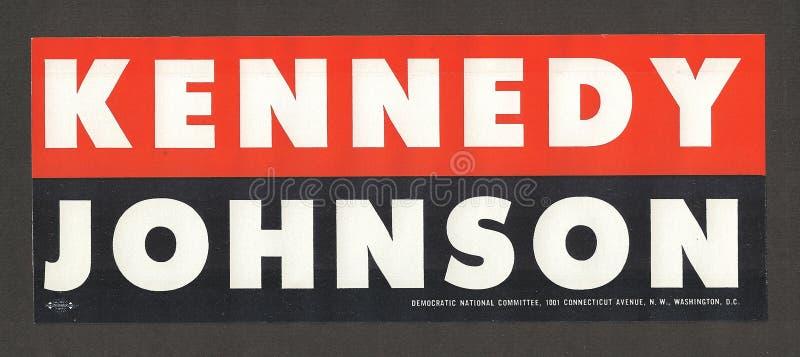 Oggetti da collezione di campagna del John F. Kennedy fotografie stock libere da diritti