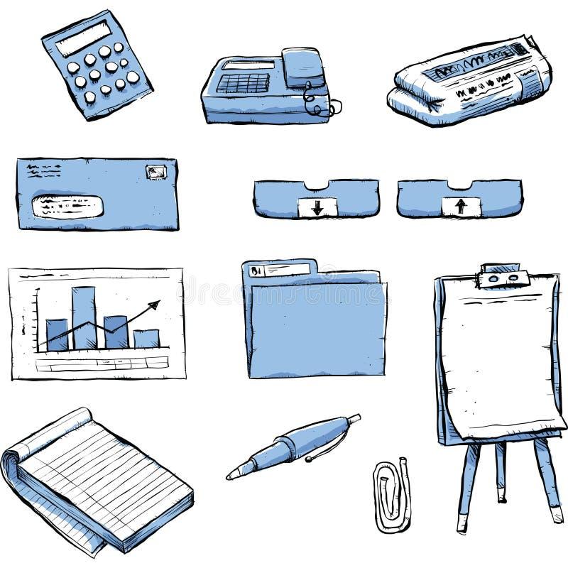 Oggetti dell'ufficio royalty illustrazione gratis