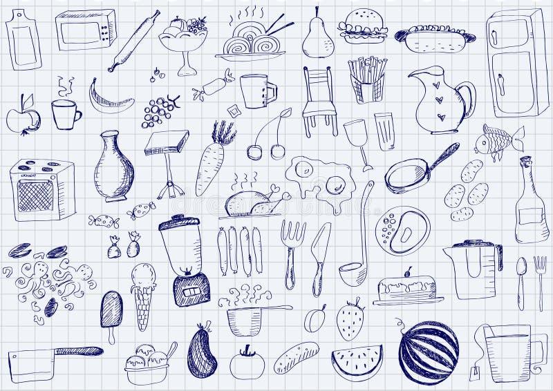 Oggetti della cucina illustrazione vettoriale. Immagine di caldo ...