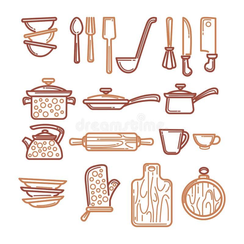 Oggetti Della Cucina Illustrazione Vettoriale - Immagine: 72999192