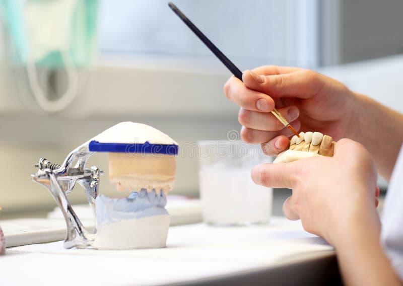 Oggetti dentari del dentista fotografia stock