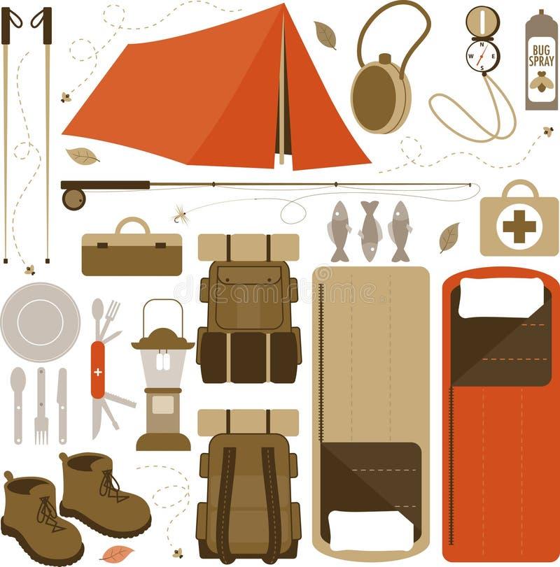 Oggetti di campeggio illustrazione vettoriale for Oggetti usati gratis