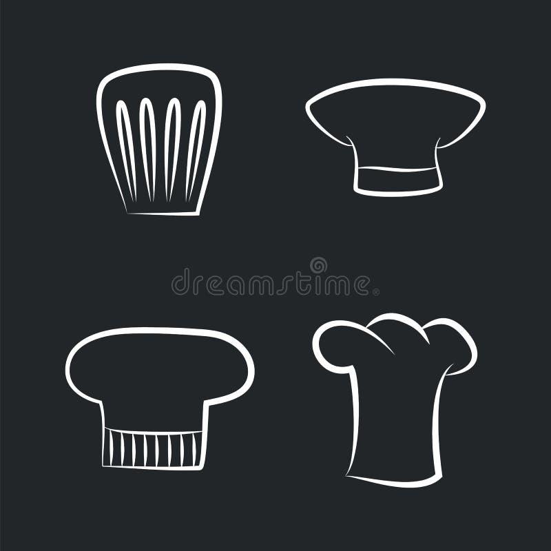 Oggetti di cappelleria del fornello del cuoco unico Staff, del forno o del caffè illustrazione di stock