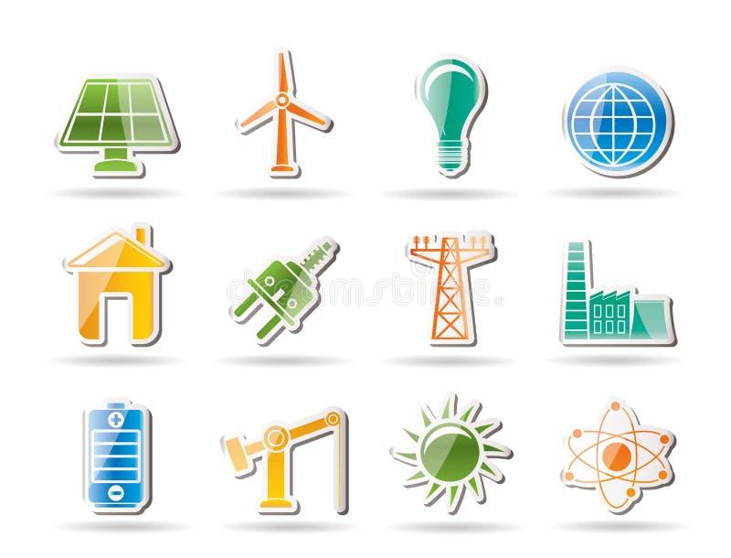 Oggetti di potenza, di energia e di elettricità royalty illustrazione gratis
