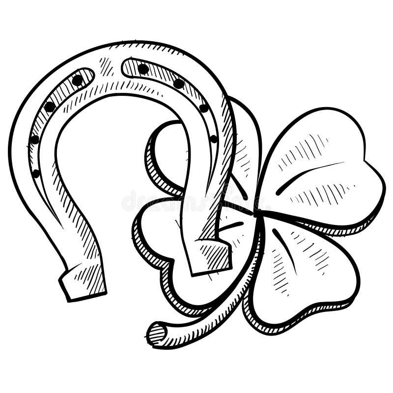 Oggetti fortunati di giorno della st Patrick royalty illustrazione gratis