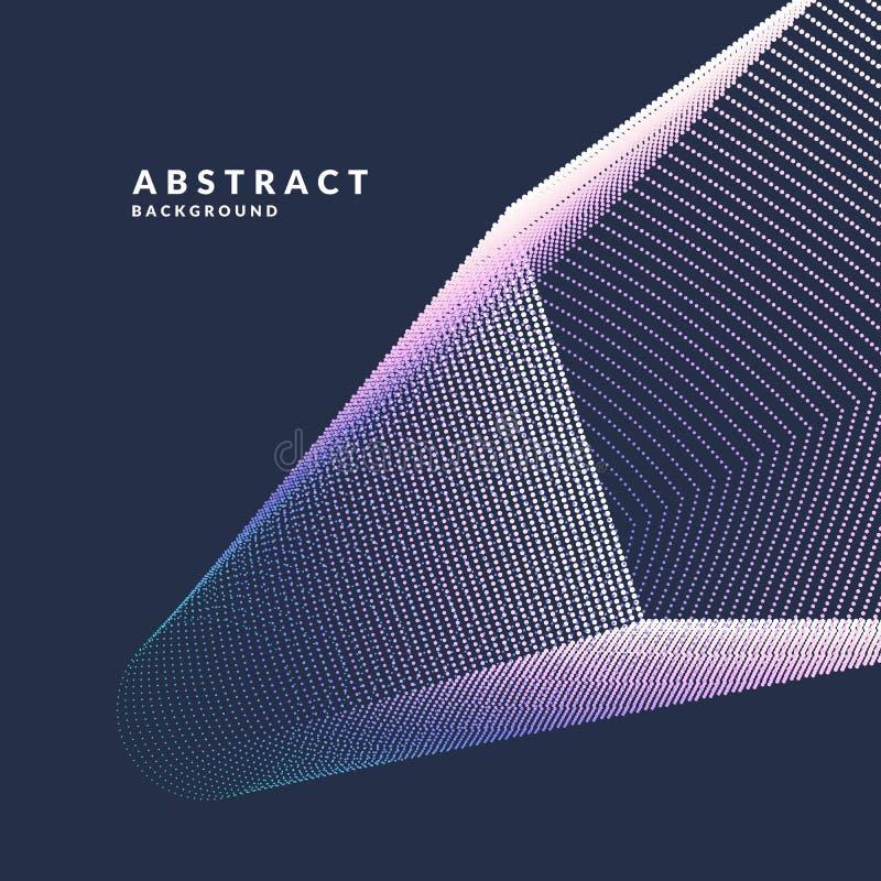 Oggetti geometrici del manifesto astratto di vettore, linee e punti luminosi in uno stile minimalista illustrazione vettoriale