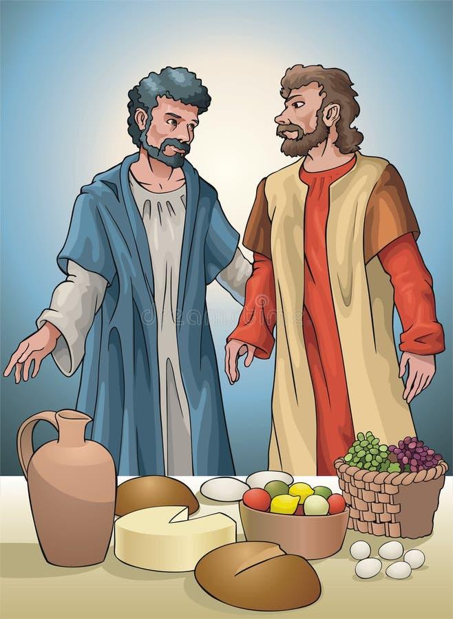 Oggetti religiosi illustrazione di stock