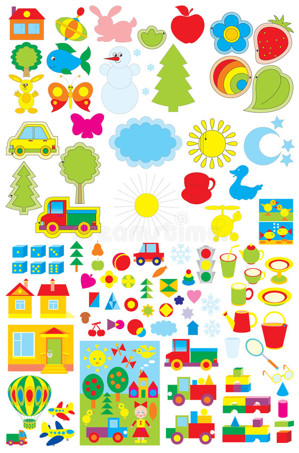 Oggetti semplici per l 39 asilo illustrazione vettoriale for Programmi per progettare oggetti