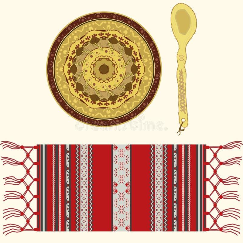 Oggetti tradizionali rumeni illustrazione di stock