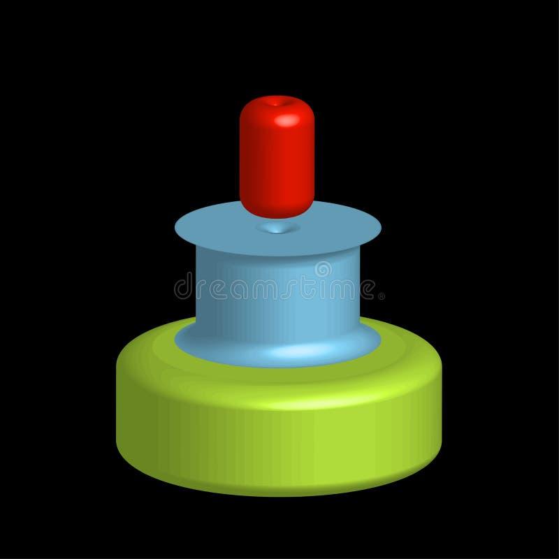Oggetti variopinti 3d per uso come logo illustrazione vettoriale