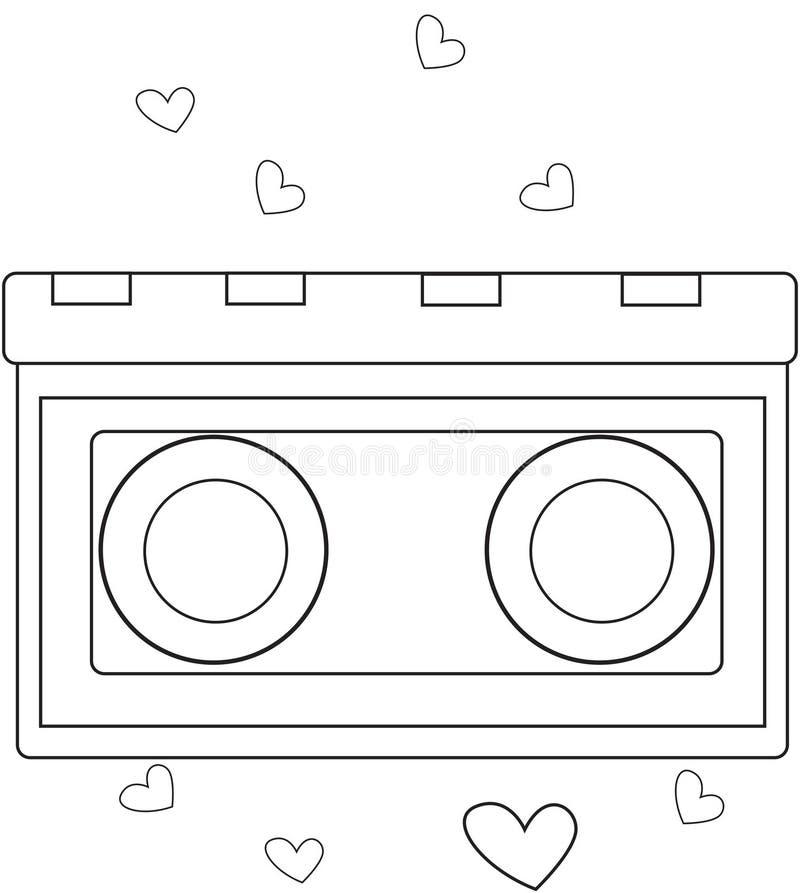 Oggetto con i cuori che colorano pagina illustrazione di stock
