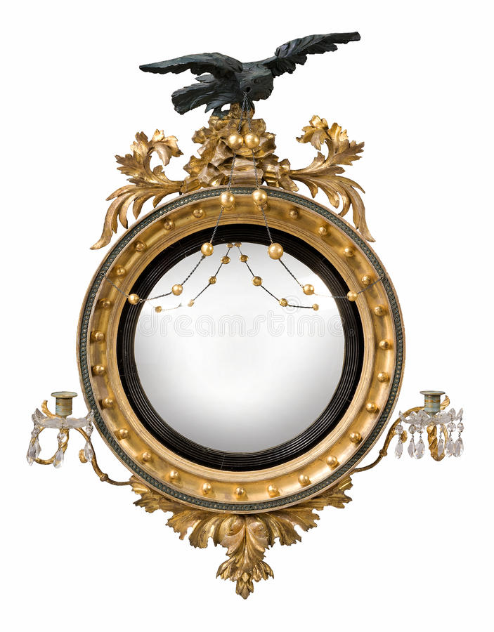 Oggetto d 39 antiquariato rotondo dello specchio for Specchio rotondo antico