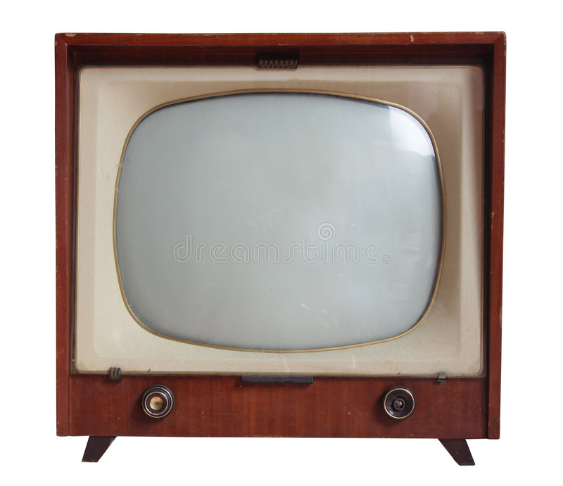 Oggetto d'antiquariato TV fotografia stock libera da diritti