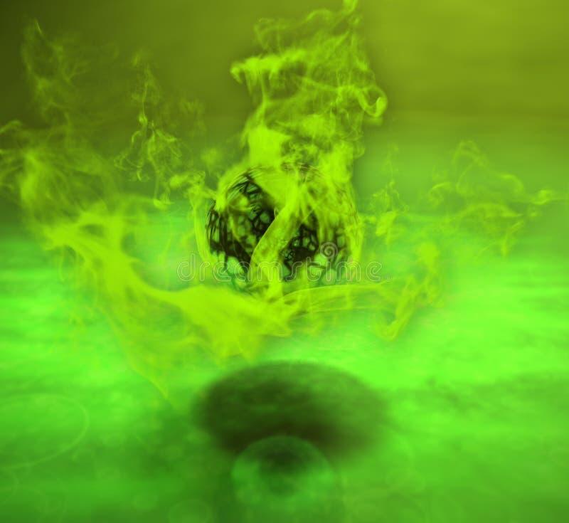 Oggetto d'ardore della sfera riempito di energia illustrazione di stock