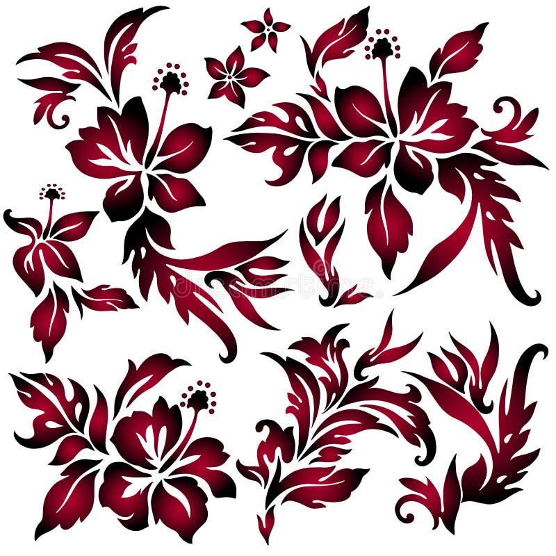 Oggetto dell'illustrazione del fiore illustrazione vettoriale