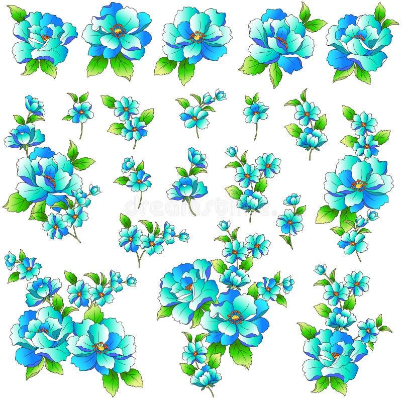 Oggetto dell'illustrazione del fiore illustrazione di stock