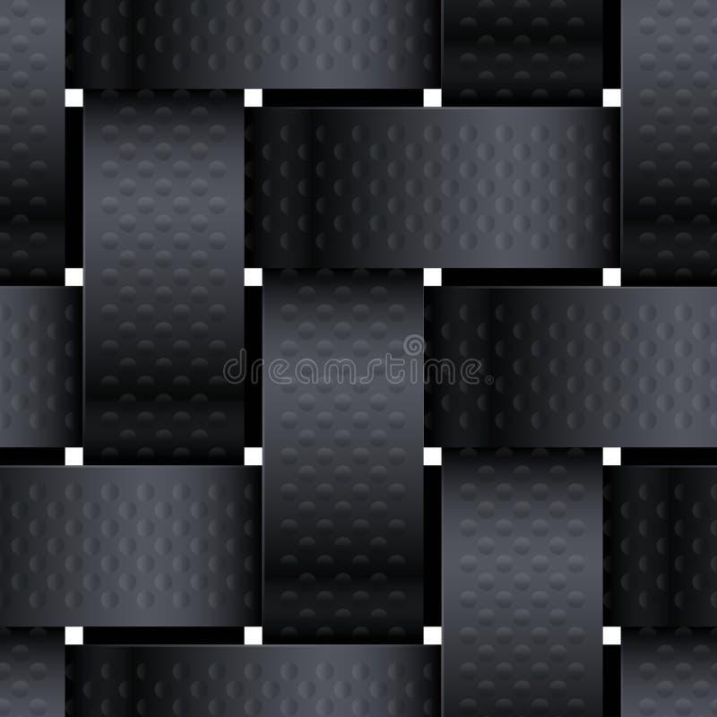 Oggetto di vimini nero fotografia stock libera da diritti