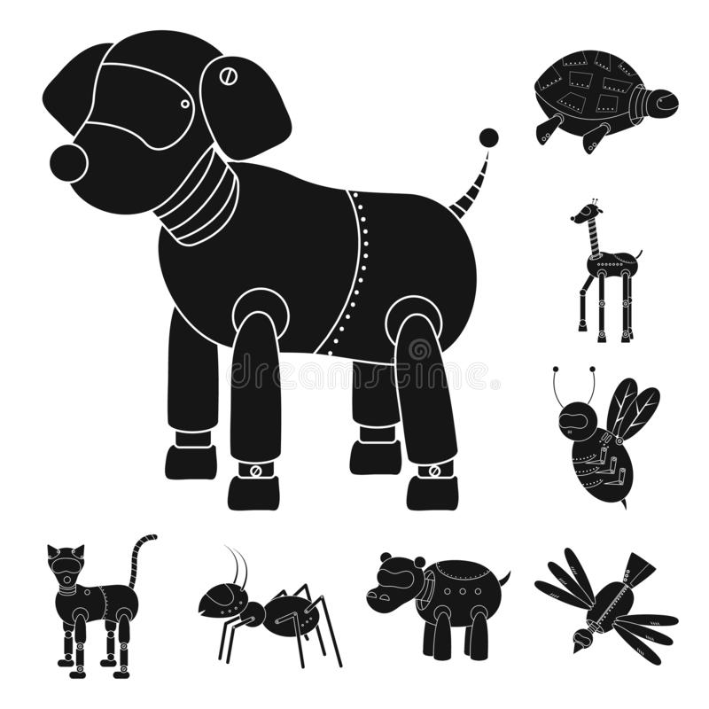 Oggetto isolato del giocattolo e del logo del giocattolo Raccolta dell'illustrazione di vettore delle azione del meccanismo e del royalty illustrazione gratis