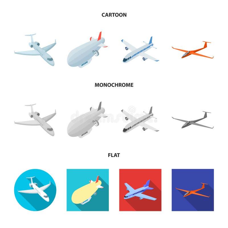 Oggetto isolato del logo dell'oggetto e di trasporto Raccolta di trasporto ed icona scivolante di vettore per le azione royalty illustrazione gratis