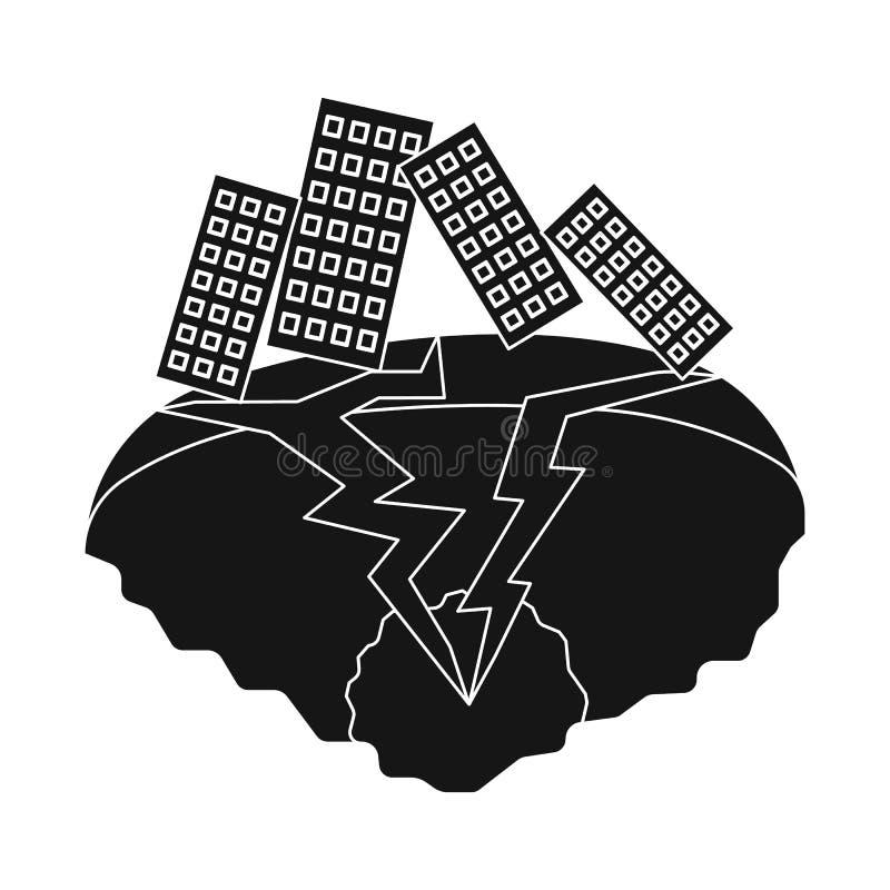 Oggetto isolato del logo di arresto e di calamità Metta dell'icona di vettore di disastro e di calamità per le azione illustrazione vettoriale