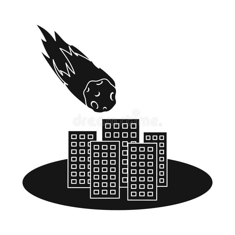 Oggetto isolato del logo di arresto e di calamità Raccolta del simbolo di riserva di disastro e di calamità per il web illustrazione di stock