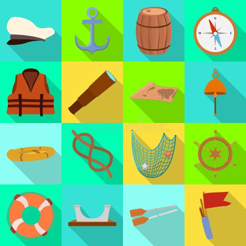 Oggetto isolato del logo di marinaio e di viaggio Raccolta del viaggio ed icona d'annata di vettore per le azione illustrazione vettoriale
