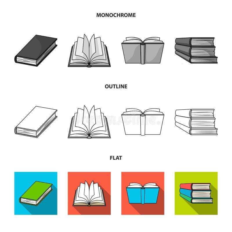Oggetto isolato del logo del manuale e delle biblioteche Metta del simbolo di riserva della scuola e delle biblioteche per il web illustrazione di stock