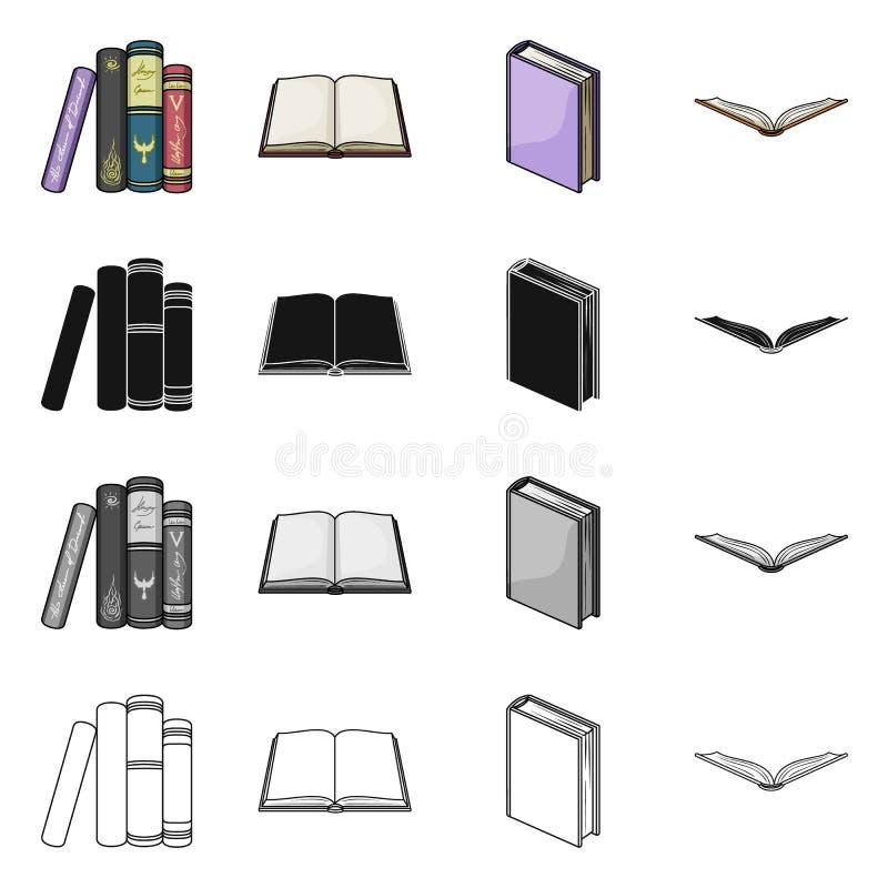 Oggetto isolato del logo del manuale e delle biblioteche Raccolta del simbolo di riserva della scuola e delle biblioteche per il  illustrazione di stock