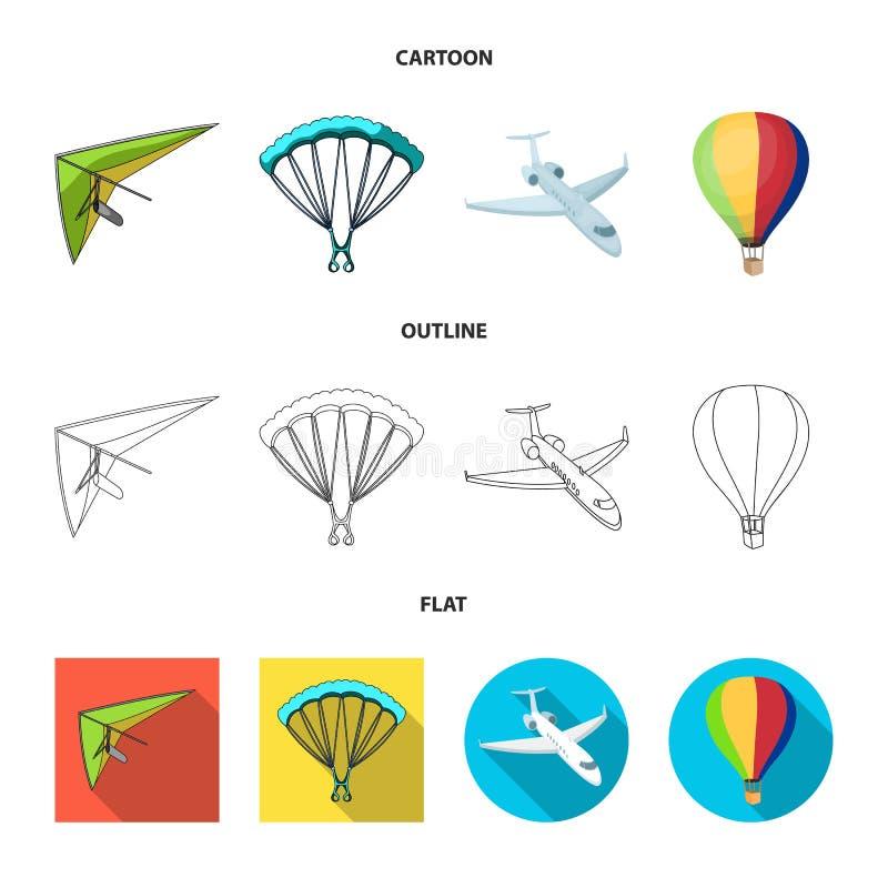 Oggetto isolato del segno dell'oggetto e di trasporto Raccolta di trasporto ed icona scivolante di vettore per le azione illustrazione di stock