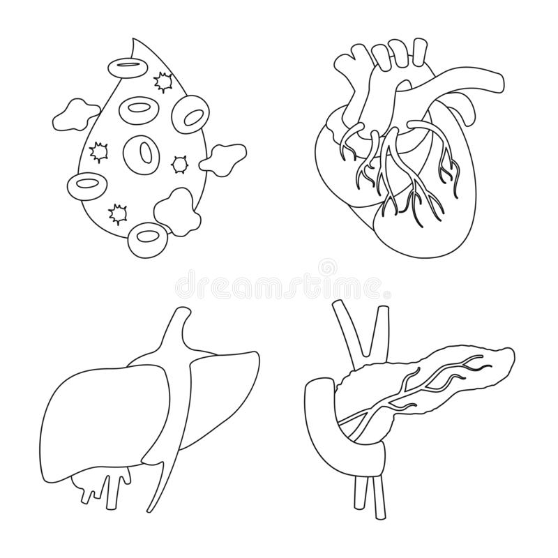 Oggetto isolato del segno dell'organo e di anatomia Metta dell'anatomia e del simbolo di riserva medico per il web royalty illustrazione gratis