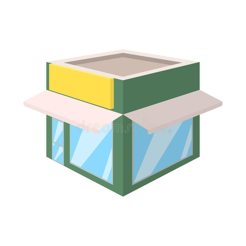 Oggetto isolato del segno della libreria e del negozio Metta del negozio e dell'illustrazione di riserva moderna di vettore illustrazione vettoriale
