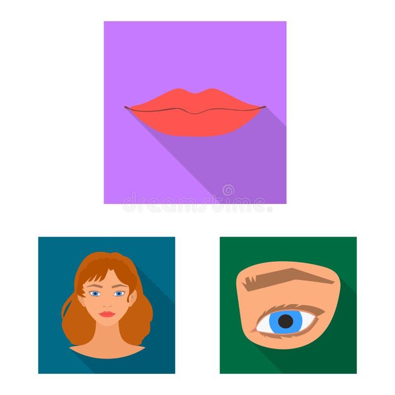 Oggetto isolato del segno della parte e del corpo Metta dell'icona di vettore dell'anatomia e del corpo per le azione illustrazione di stock