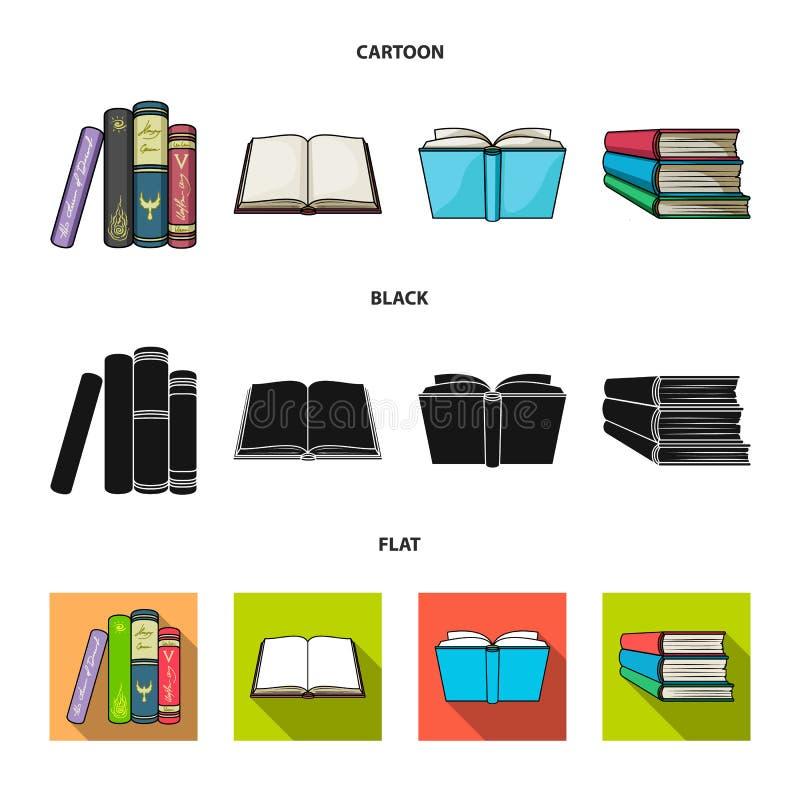 Oggetto isolato del segno del manuale e delle biblioteche Raccolta dell'icona di vettore della scuola e delle biblioteche per le  illustrazione di stock