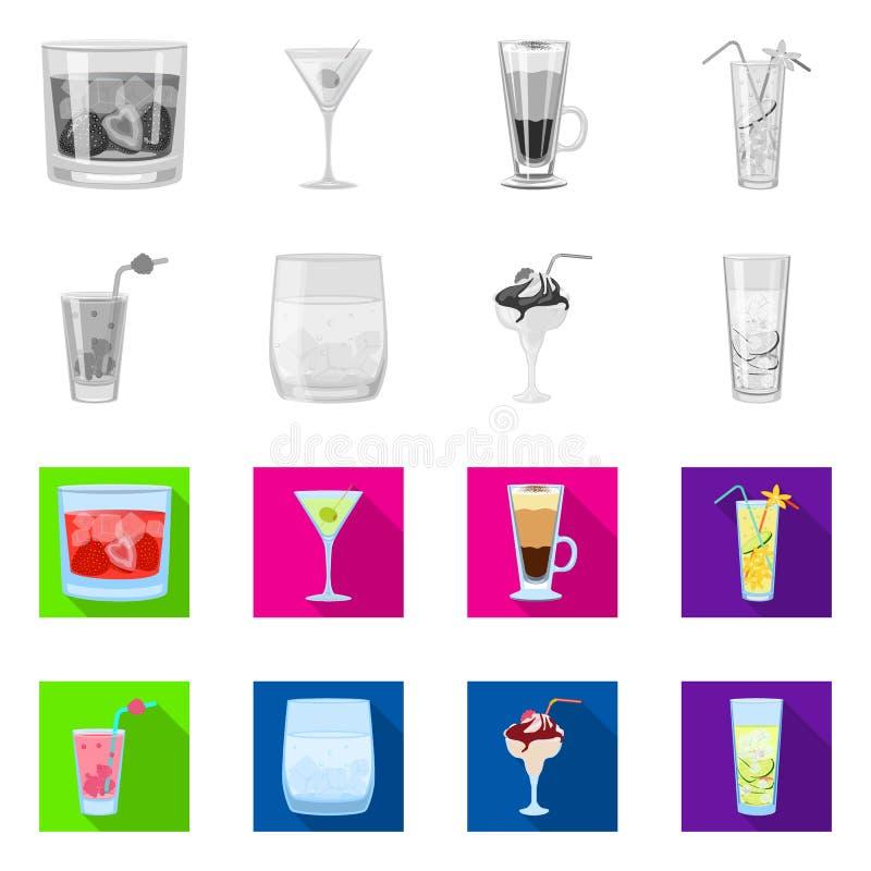 Oggetto isolato del segno del ristorante e del liquore Metta del simbolo di riserva dell'ingrediente e del liquore per il web royalty illustrazione gratis