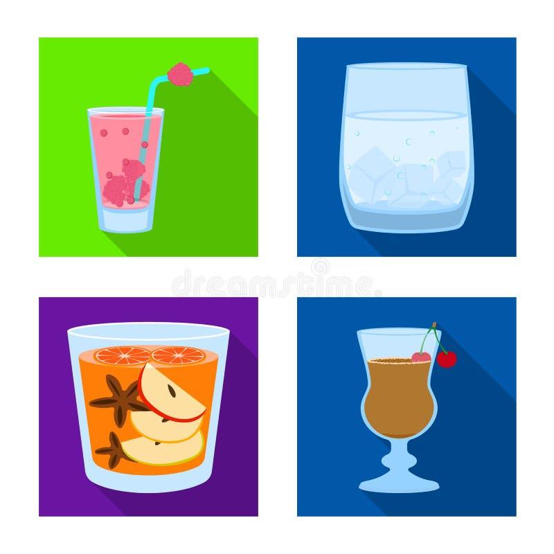 Oggetto isolato del segno del ristorante e del liquore Raccolta dell'illustrazione di vettore delle azione dell'ingrediente e del illustrazione vettoriale