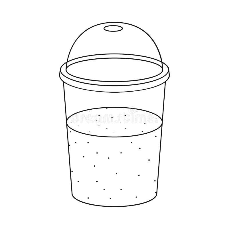 Oggetto isolato del simbolo dell'alga e del frullato Metta del simbolo di riserva dei superfoods e del frullato per il web royalty illustrazione gratis